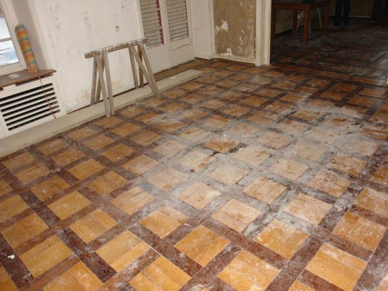 Rekonstruktion Musterboden nach Wasserschaden